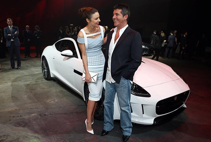 The pair pose with Jaguar's F-Type R Coup.