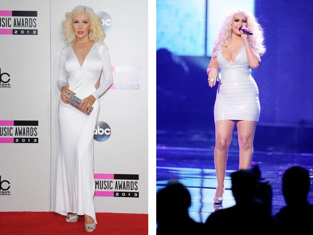 Christina Aguilera struggled to regain her shape after the birth of her son.