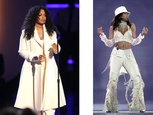 Janet Jackson would constantly put weight on and take it off between recording and touring.