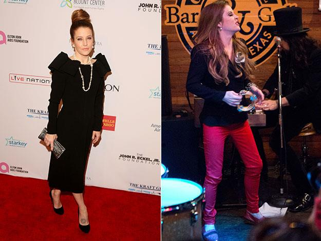 Lisa Marie Presley shows off her slim new figure.