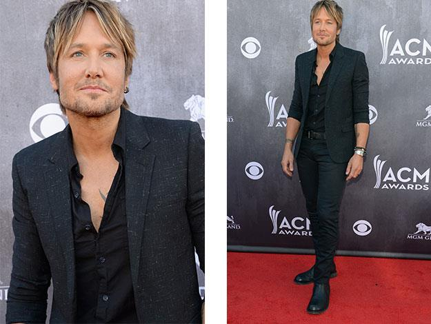 Keith Urban attends the 49th Annual Academy Of Country Music Awards in Las Vegas.
