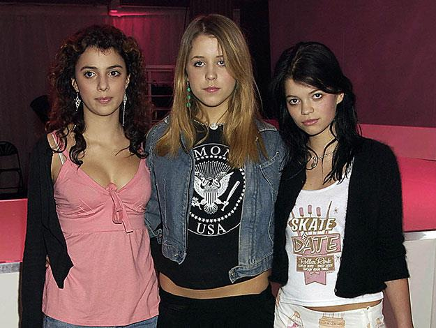 Peaches and her sister Pixie Geldof attend the Barbie Doll Fashion Show in 2004.