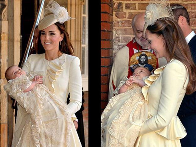 Duchess Catherine at Prince George's christening.