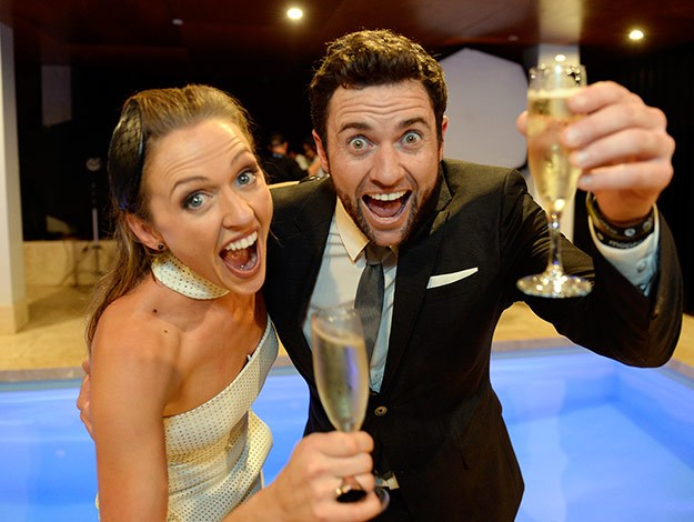 The winning couple, Chantelle and Steve.