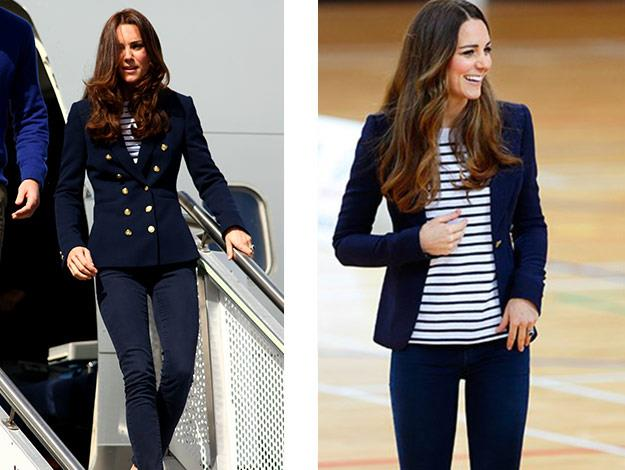 Duchess Catherine loves a stripe top...