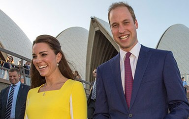 William to Kate: 'You look like a banana!'