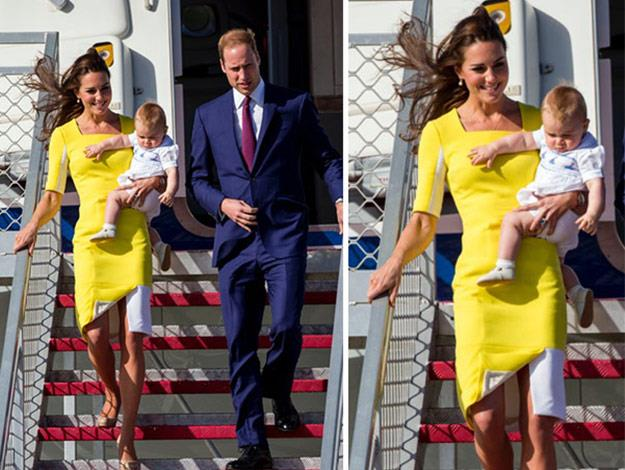 Prince William thinks Catherine looks like a banana in her yellow dress. What do you think?