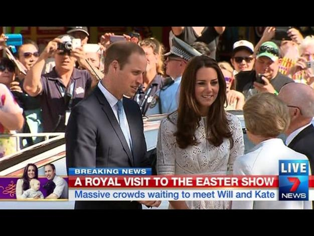 Kate and Wills arrive at the Royal Easter Show. Photo: Twitter