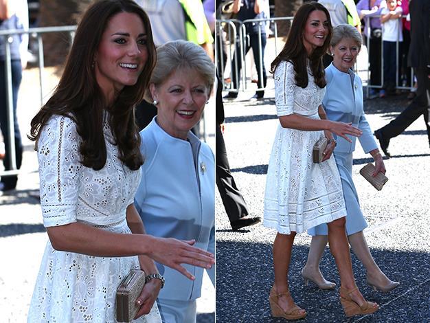 Kate is wearing Australian designer Zimmermann. Photo: Media Mode