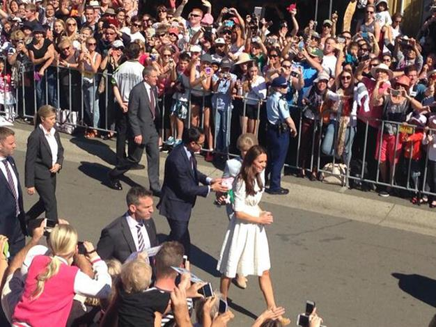 The Duchess greets the crowds. Photo: Twitter
