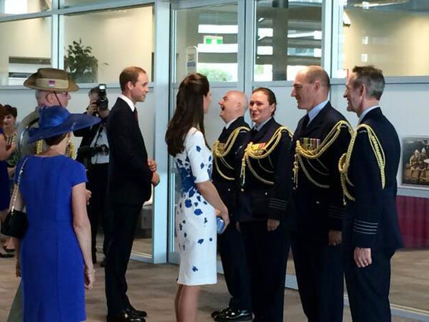 Their Royal Highnesses meet with officials. Photo: ?@PaulPisasale via Twitter