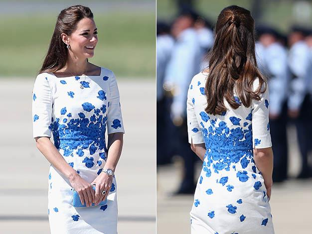 Kate wears a Lasa Poppy Print Dress by favourite British label L.K. Bennett. Photos: Getty Images
