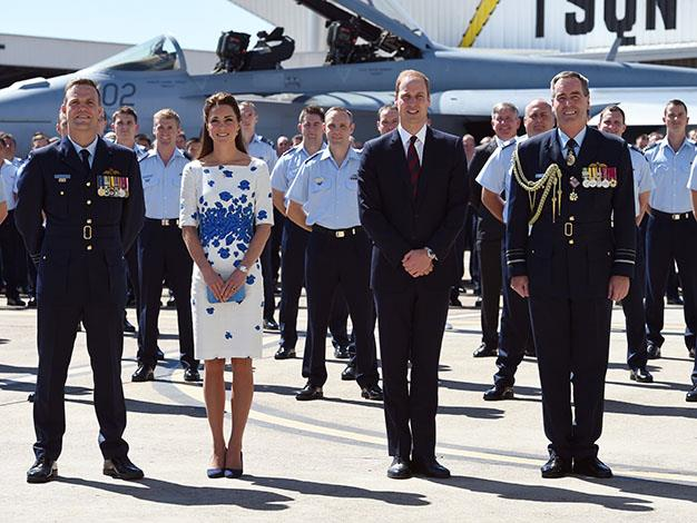A photo opportunity with the Royal Australian Air Force. Photo: Getty Images