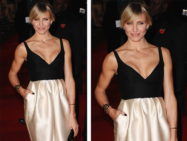Cameron Diaz's Arms: Mark says it's all about activating as much muscle as possible working through different angles. Ladies, don't be scared of using some decent resistance!