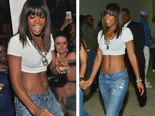 Kelly Rowland's Abs: Great abdominals are made in the kitchen; not the gym. You can do sit-ups until you're blue in the face but without a good diet, you won't see any changes.