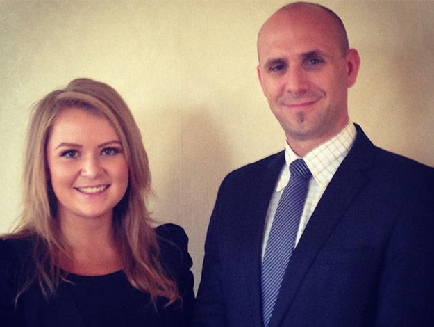 Jess with Chris Reid the butler trainer.