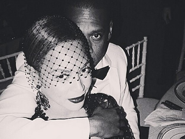 Queen Bey and Jay Z shared a selfie on instagram while at the Met Gala.