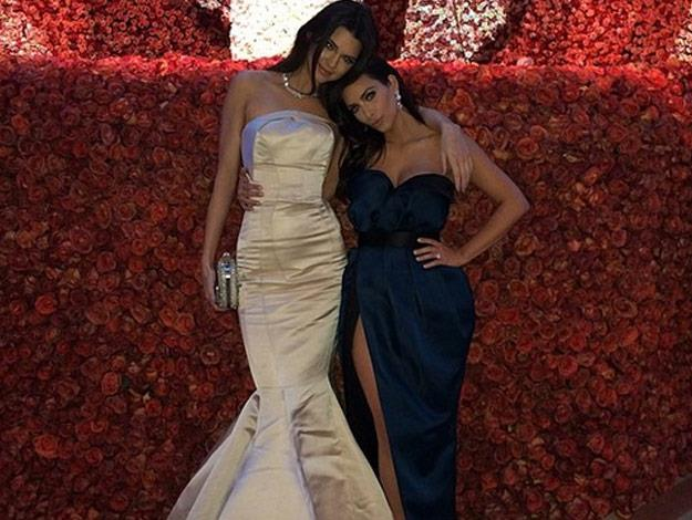 Kim Kardashian and half-sister Kendall Jenner attended the Met Gala together for the first time.