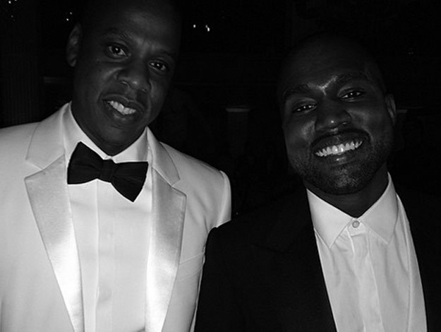 Kanye West with best friend Jay Z at the Met Gala, 2014.