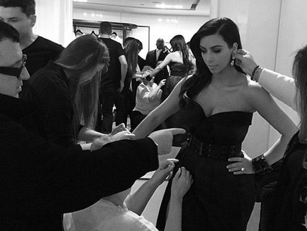 Kim Kardashian and her glam squad.