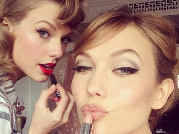 Pre Met Gala glam party with Taylor Swift and Karlie Kloss.