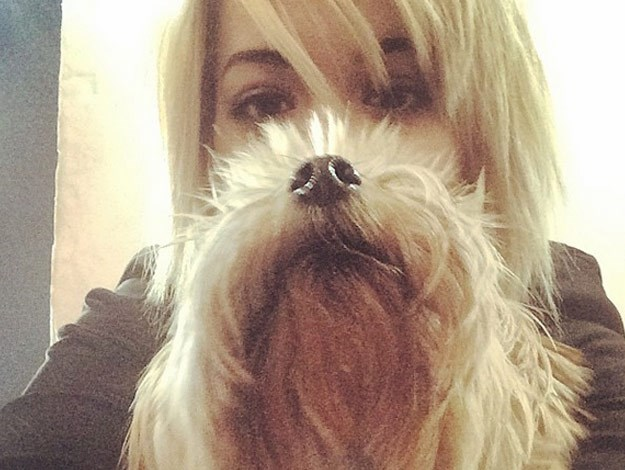Rita Ora takes a selfie with her gorgeous pup.