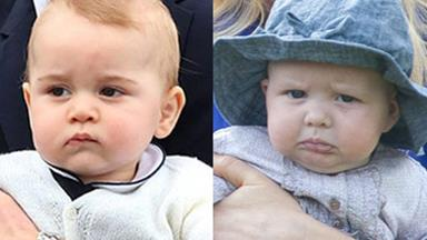 Prince George throws food at Zara Phillips daughter Mia
