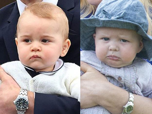 A cheeky Prince George threw food at his little cousin Mia when the pair first met.