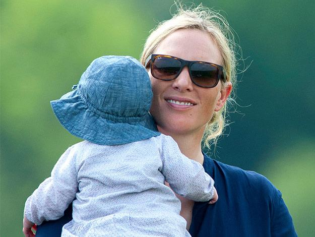 Zara Phillips steps out with baby Mia at the Mike Tindall Celebrity Golf Classic event.