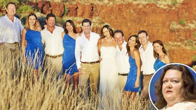 Rinehart's son weds, Gina not invited