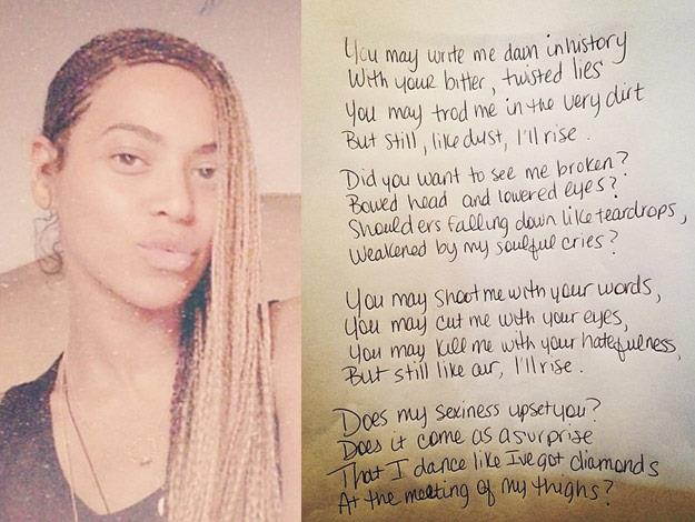Rest in peace phenomenal woman.-Beyonce