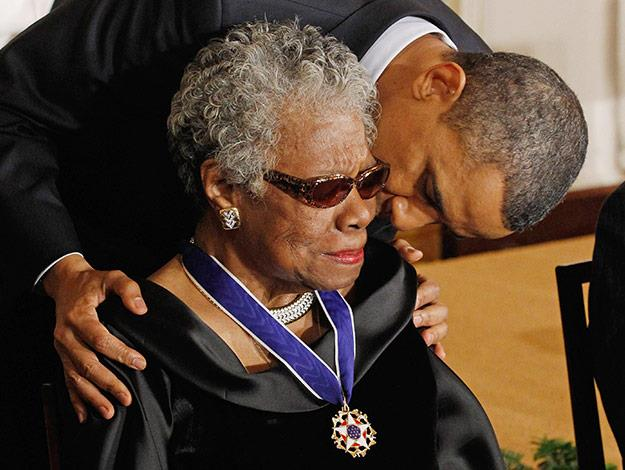 "President Barack Obama said Wednesday that the death of poet and author Maya Angelou has dimmed ""one of the brightest lights of our time."""