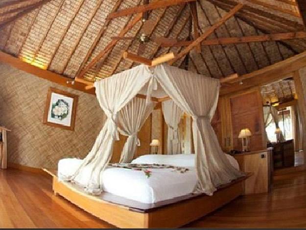 Bedroom in the royal beach villa.