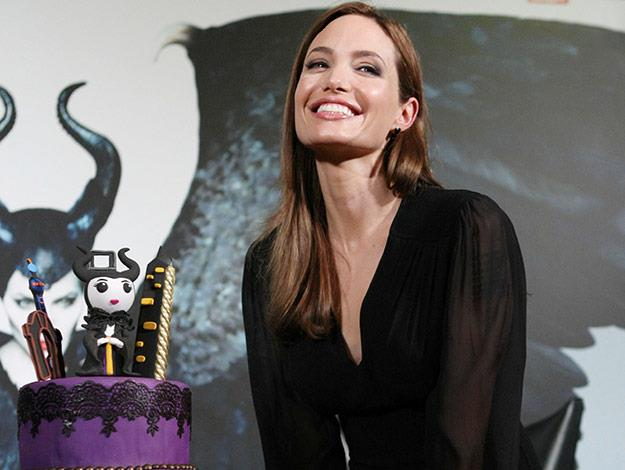 Angelina Jolie was treated to a Maleficent-inspired birthday cake.