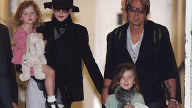 Nicole Kidman, Keith Urban and their girls touch down in Sydney!