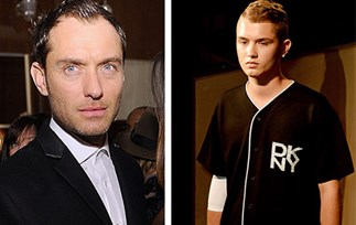 Jude Law's son makes runway debut