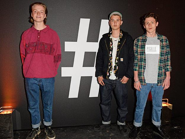 Rafferty (middle) attends a fashion event in London.