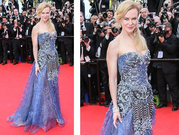 Nicole arrives at the Grace of Monaco premiere wearing a breathtaking Armani Privé dress.