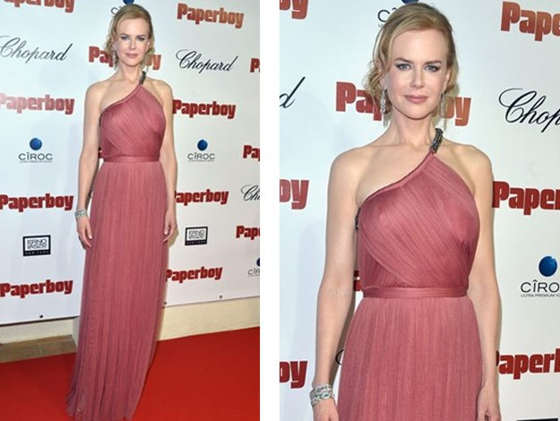 Nicole 2012 wearing a Lanvin gown which was custom-made by Alber Elbaz.