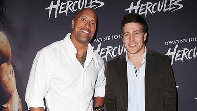 Stephen Peacocke shares red carpet with The Rock