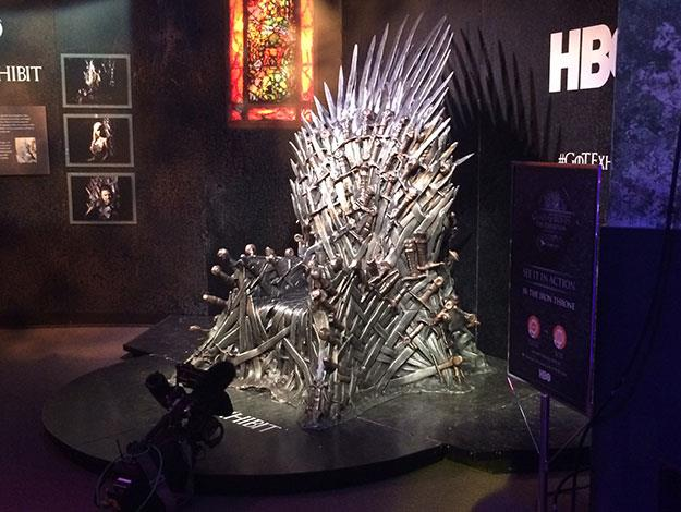 The iron throne seems smaller and less intimidating in real life!