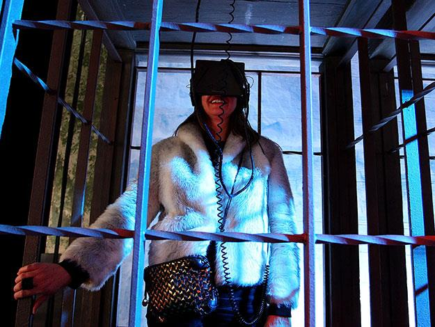 """Visitors to the exhibition can experience what it's like for the night's watch to """"ascend the wall"""" on a ride that simulates what it's like to ride up and down on the rickety hand-pulled elevator"""