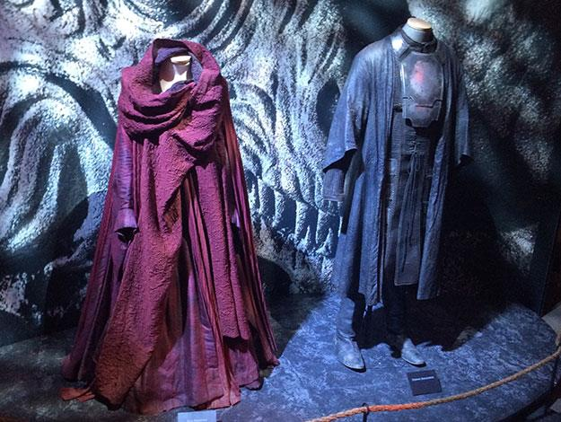 Recognise these? The costumes of the Red Woman and Stannis Baratheon were on display