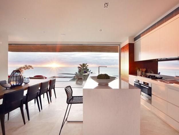 The sleek, minimalist house was designed by renowned architect Koichi Takada