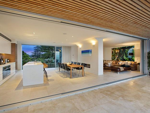 The interior design is highly contemporary and open