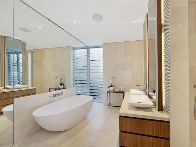 The four bedroom property also features three large bathrooms - Jen and Jake could easily have had his and hers bathrooms