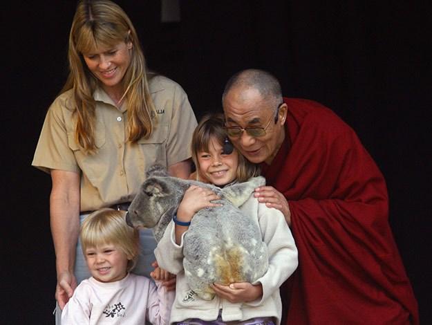 The Irwins meet the Dalai Lama.