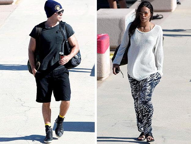 Zac and Michelle were seen arriving at the dock separately and demurely dressed.
