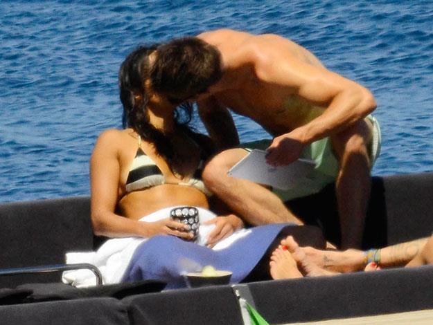 Zac Efron and Michelle Rodriguez spotted smooching on a boat in Sardinia, Italy.