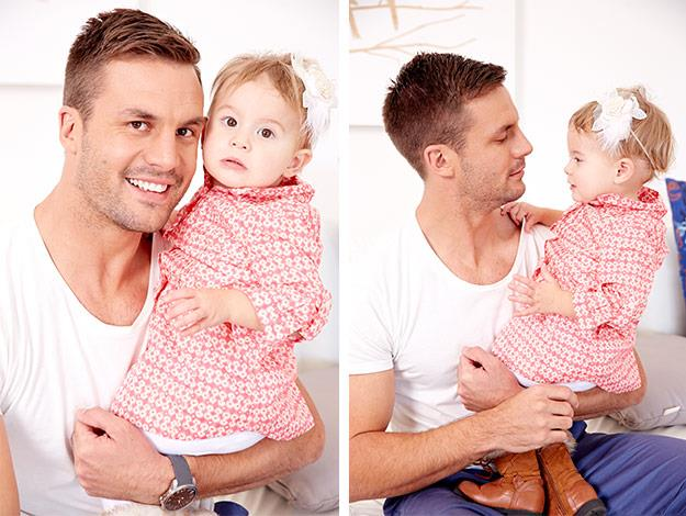 Beau admits he spends too much time kissing his daughter Remi.